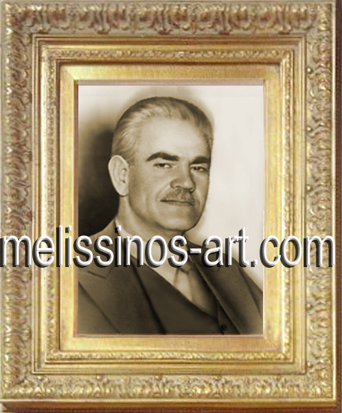Georgios Melissinos, aged 54, a few months before his untimely death, in 1955.