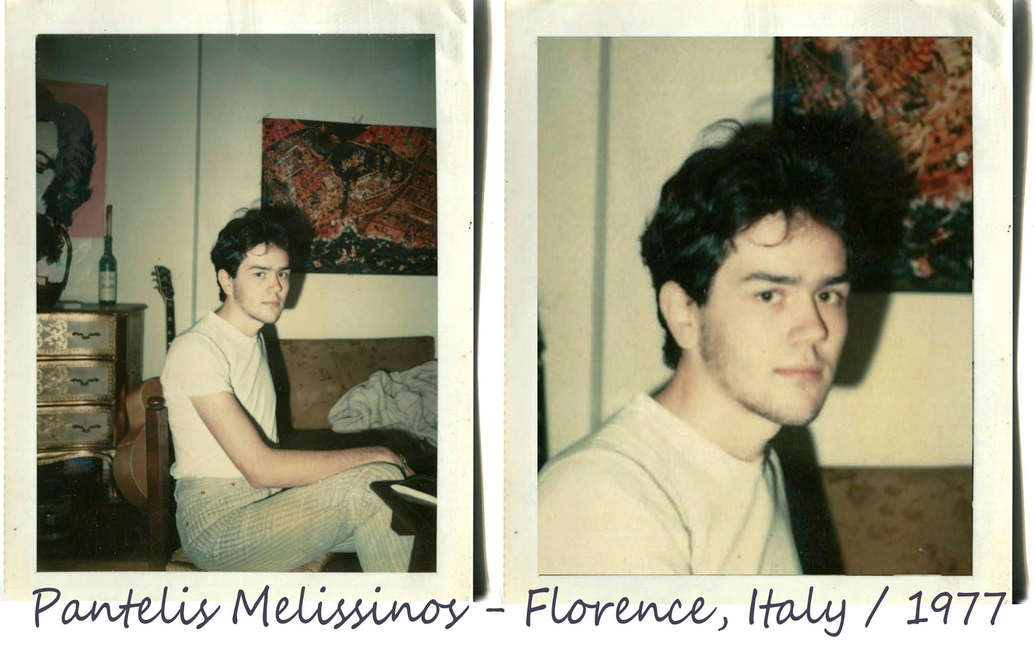 Ο Παντελής Μελισσινός ως νεαρός φοιτητής στη Φλωρεντία