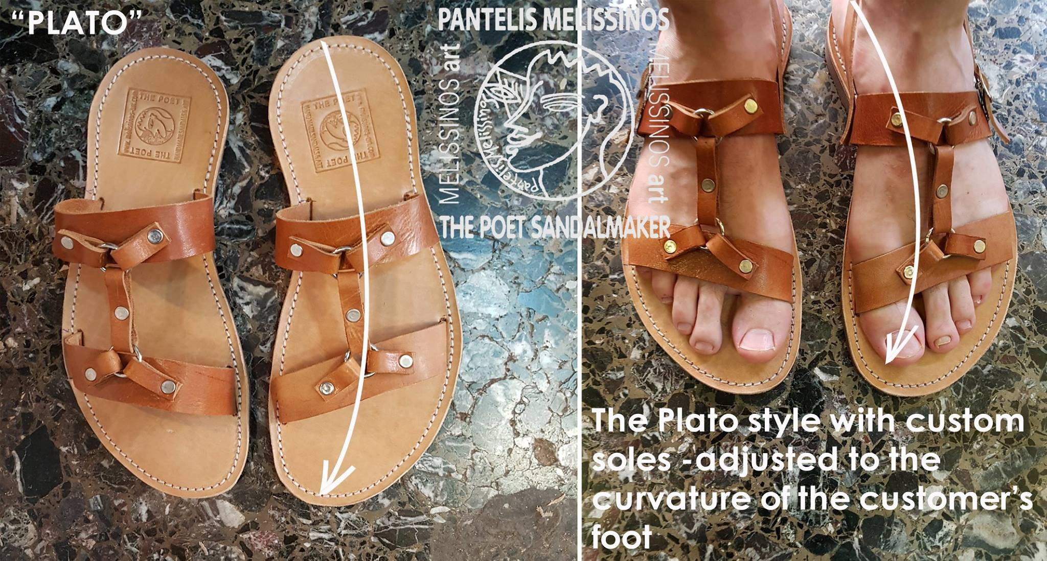 d8947b8bb8452 All sandals are custom-fit to your measurements. We also bevel the edges of the  leather straps to make them more ...
